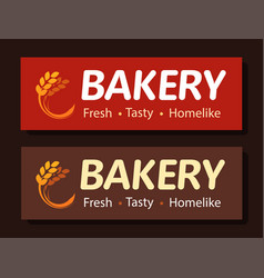 signboard banner bakery beautiful conspicuous vector image