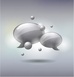 Speech and Thought Bubbles social media concept vector image vector image