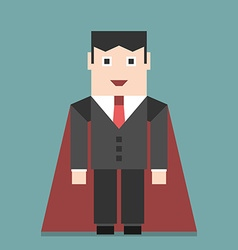 Successful businessman super hero vector