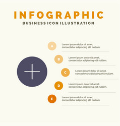 Twitter add contact solid icon infographics 5 vector
