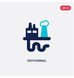 Two color geothermal icon from industry concept vector