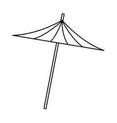 umbrella decoration cocktail drink icon vector image