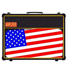 Usa rock amplifier vector