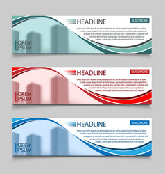 website horizontal business banners vector image