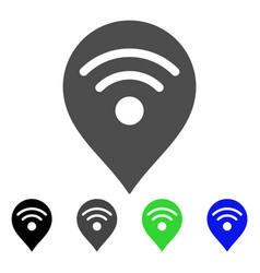 wi-fi map marker flat icon vector image