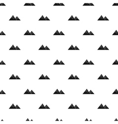 Winter mountains pattern simple style vector