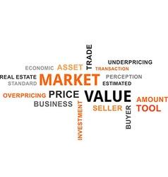 word cloud market value vector image