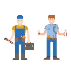 Worker man character vector