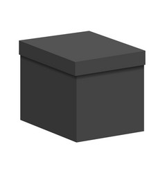 black box with a lid vector image