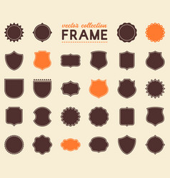 blank medieval frames collection set of vector image