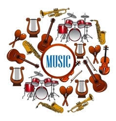 Collection of sound equipment or music instruments vector