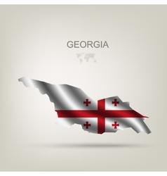 Flag of Georgia as a country vector image vector image