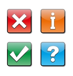 Set of information icons vector image