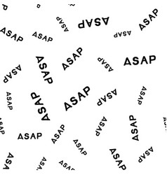 asap hand drawn lettering seamless pattern vector image vector image