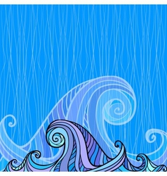 Blue and violet waves background vector image vector image