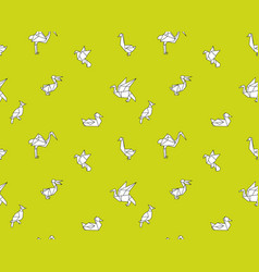 seamless pattern with origami vector image