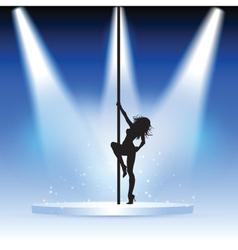 Sexy pole dancer vector image vector image