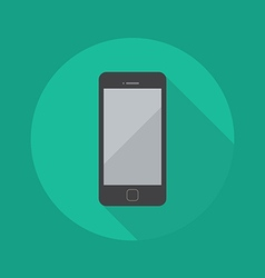 Technology Flat Icon Smart Phone vector image vector image
