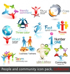 Business people community vector