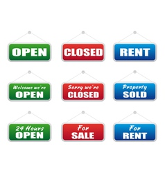 Collection of signboards vector image