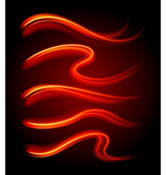 Curly light streaks vector image vector image