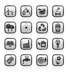 environment and recycling icons vector image vector image
