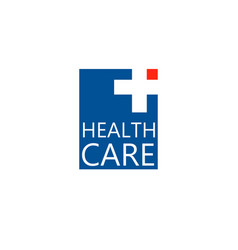 logo cross logo for the clinic pharmaceutical vector image vector image