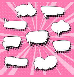 set of empty speech bubbles vector image vector image