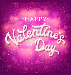 valentines day card with bokeh blurred hearts vector image vector image