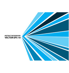 abstract blue arrow speed line on white vector image