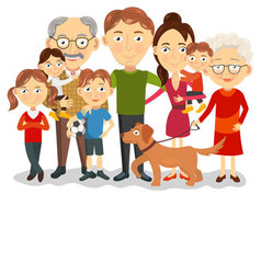 Big and happy family portrait with children paren vector image vector image