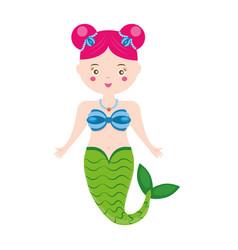 cute mermaid character in cartoon style vector image vector image