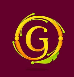G letter monogram design elements vector image vector image