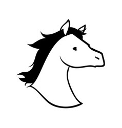 horse animal silhouette vector image vector image