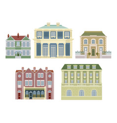 luxury old fashioned houses buildings vector image vector image