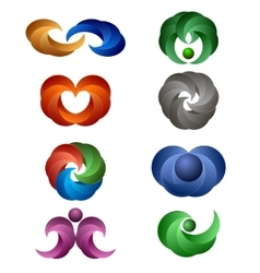 Set of Colored Icons vector image vector image