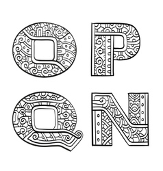Vintage set of initial letters vector image vector image