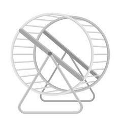 wheel for rodentspet shop single icon in black vector image