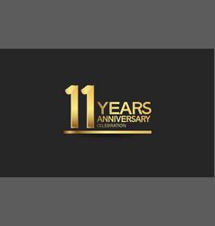 11 years anniversary celebration with elegant vector