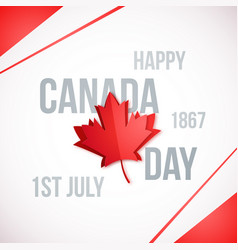 1st july canada day design template vector image
