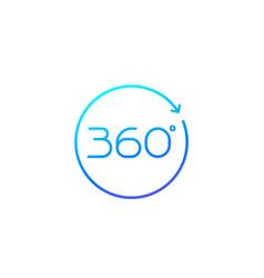 360 icon with arrow vector