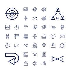 37 arrow icons vector