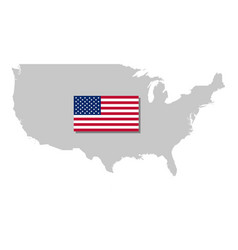 american flag and map vector image