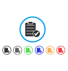 approve test rounded icon vector image