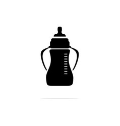 baby bottles icon concept for vector image