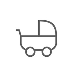baby strollers carriage line icon vector image