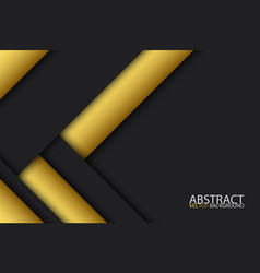 Black and gold modern material design abstract vector