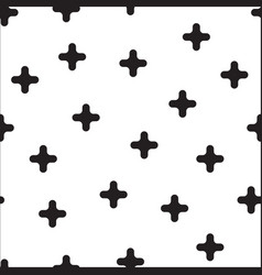 black cross randomly placed on white background vector image