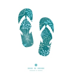 Blue and gray plants flip flops silhouettes vector