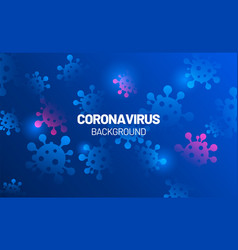 Blue background with coronavirus 2019-ncov covid vector